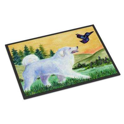 18 in. x 27 in. Indoor/Outdoor Great Pyrenees Door Mat