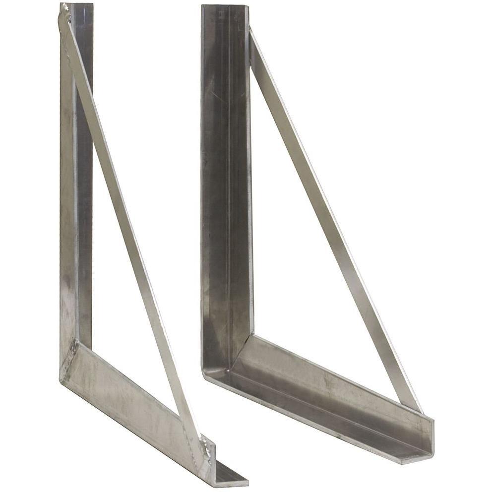 18 in. Aluminum Tool Box Mounting Bracket Kit