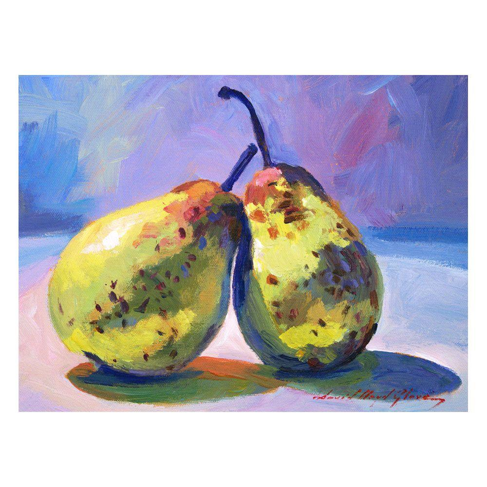 Trademark Fine Art 24 in. x 32 in. A Pair of Pears Canvas Art