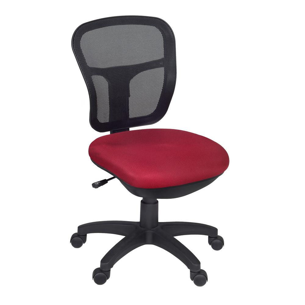 Charmant Regency Harrison Red Armless Swivel Chair