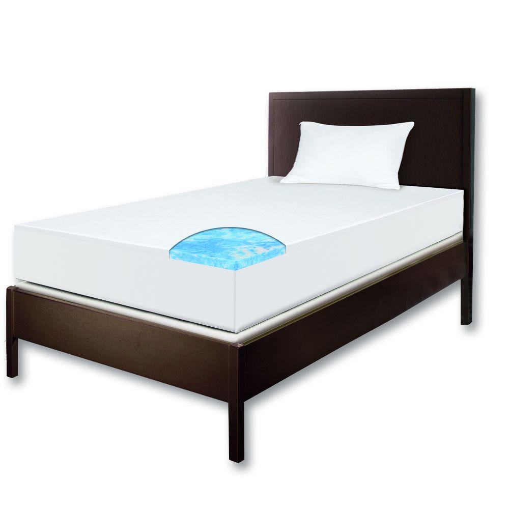 Sleep Innovations Twin XL Size Remedy Study Bundle 2 in. Gel Swirl Topper Mattress-DISCONTINUED