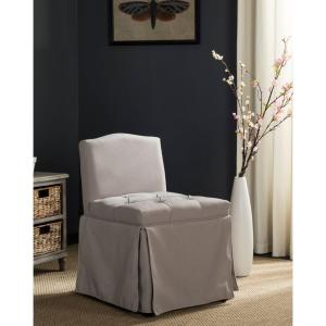 Betsy Taupe Linen Vanity Stool