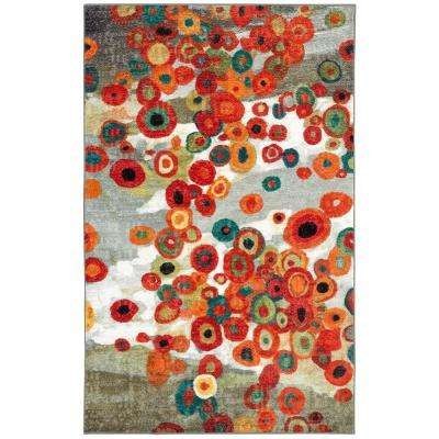 Tossed Floral Multi 6 ft. x 9 ft. Area Rug