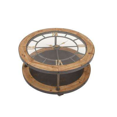 Brown Clock Face Coffee Table