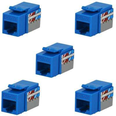 Category 6 Jack in Blue (5-Pack)