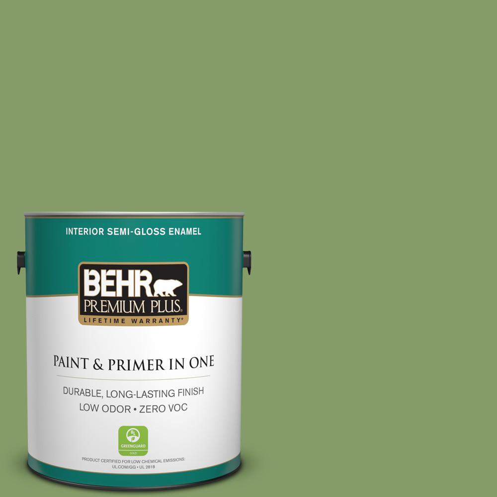 1-gal. #M370-5 Agave Plant Semi-Gloss Enamel Interior Paint