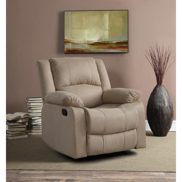 Relax A Lounger Preston Microfiber Recliner Chair in Beige