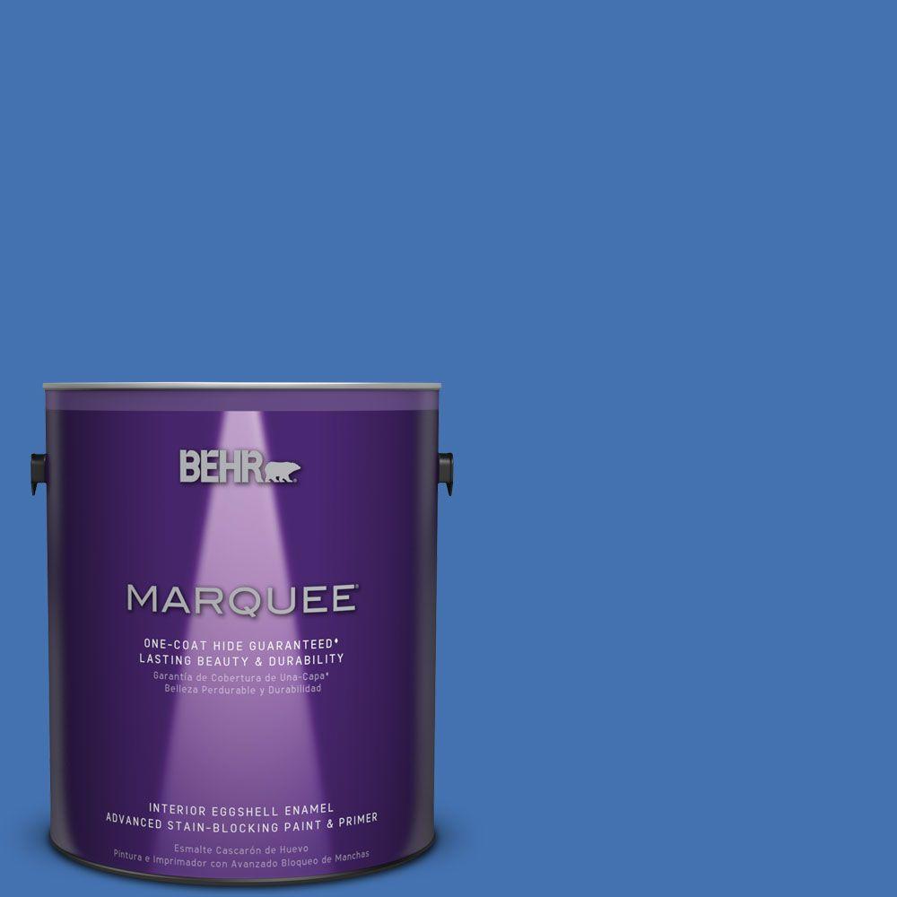 1 gal. #HDC-SM16-07 Croquet Blue Eggshell Enamel Interior Paint