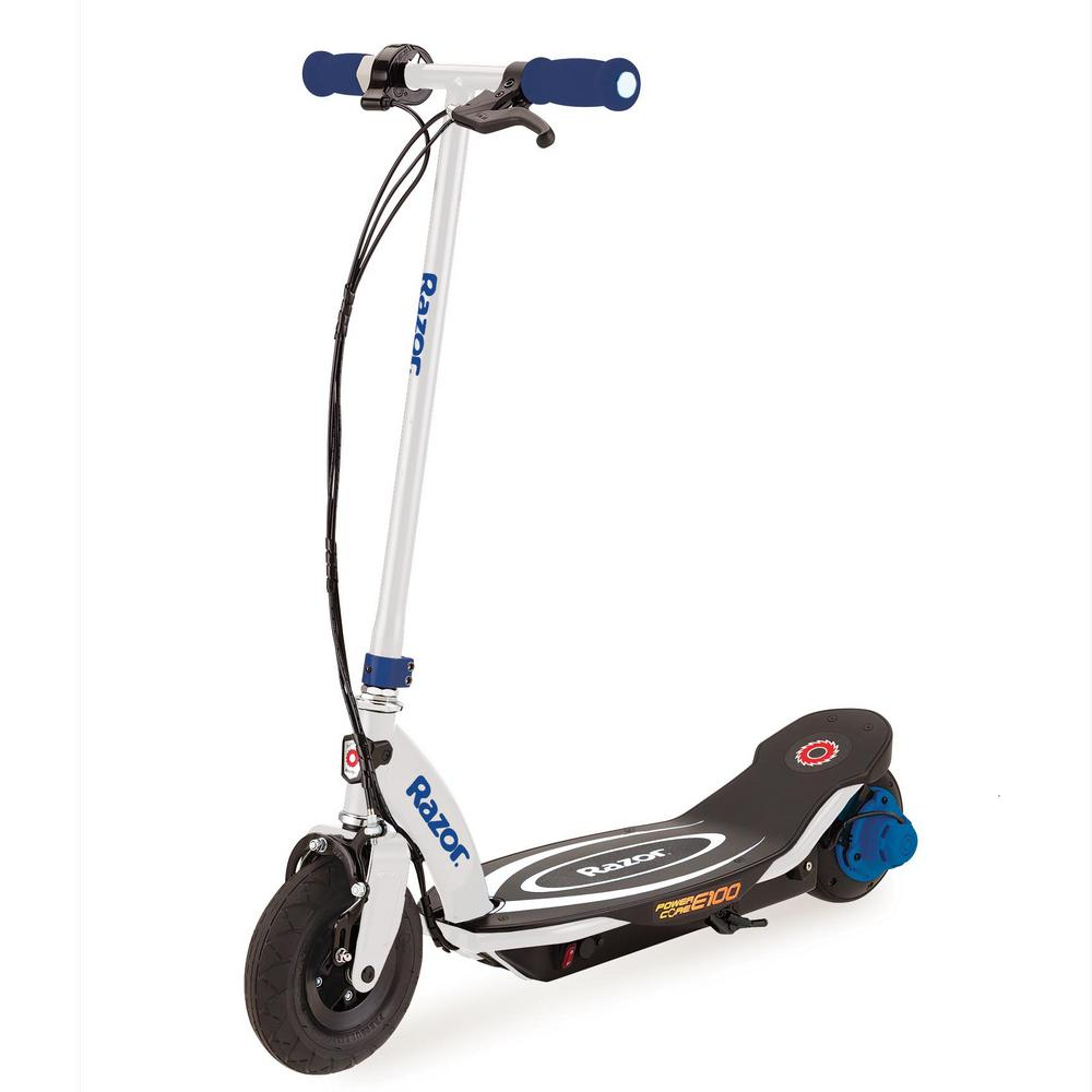 Electric Motor Scooter >> Razor Power Core E100 Electric Hub Motor Kids Toy Motorized Scooter In Blue