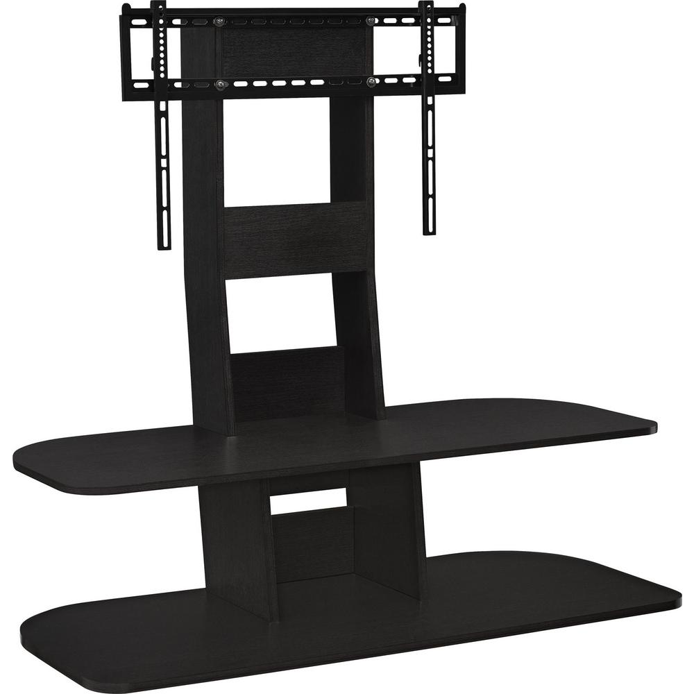 Park Black 65 In Tv Stand With Mount Hd92049 The Home Depot