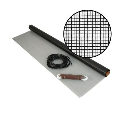 36 in. x 84 in. Charcoal Fiberglass Screen Kit with Spline and Roller
