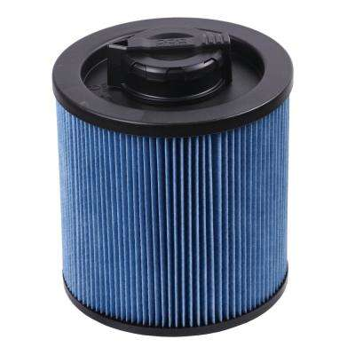 Cartridge Filter - High Efficiency 6 Gal. to 16 Gal. for Wet/Dry Vacuum