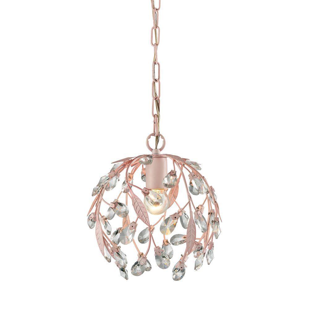 Circeo 1-Light Light Pink Pendant