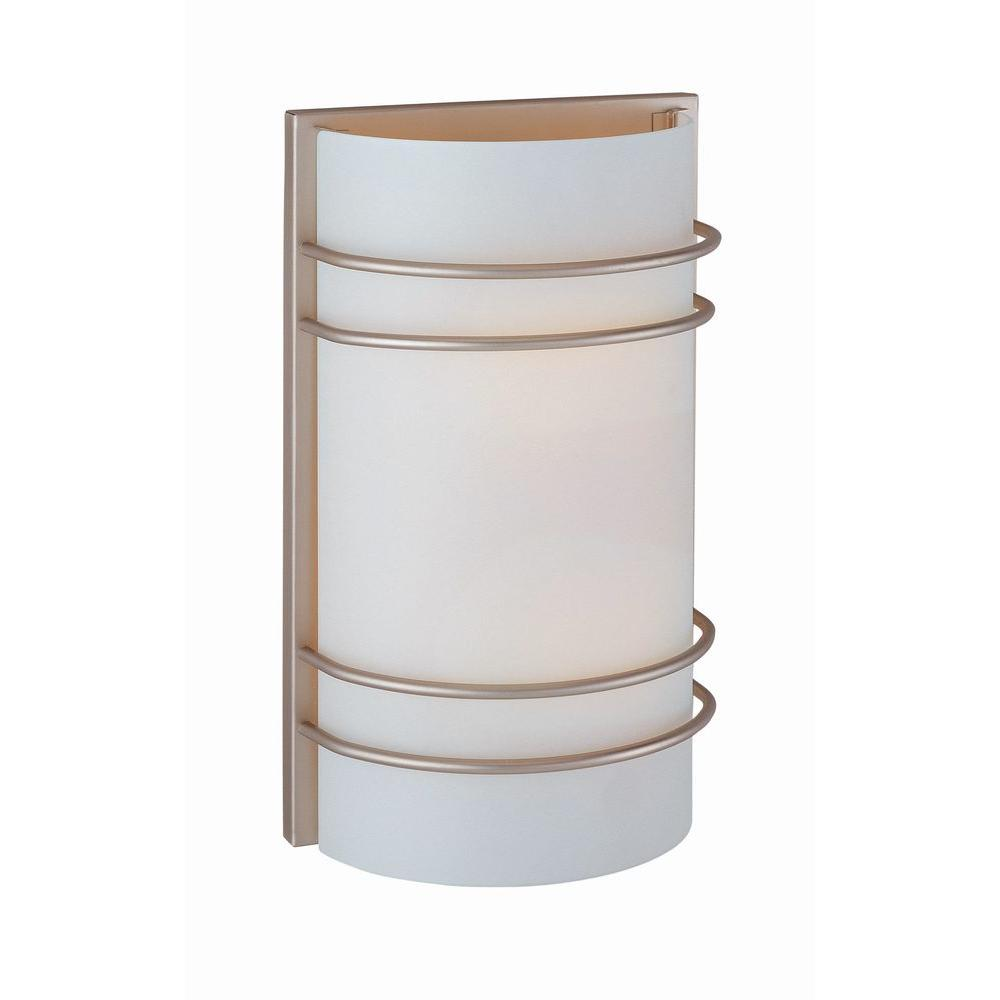 Illumine Randee 2-Light Stainless Steel Sconce with Frosted Glass