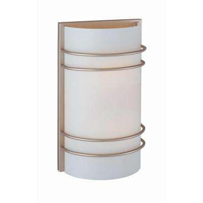 Randee 2-Light Stainless Steel Sconce with Frosted Glass
