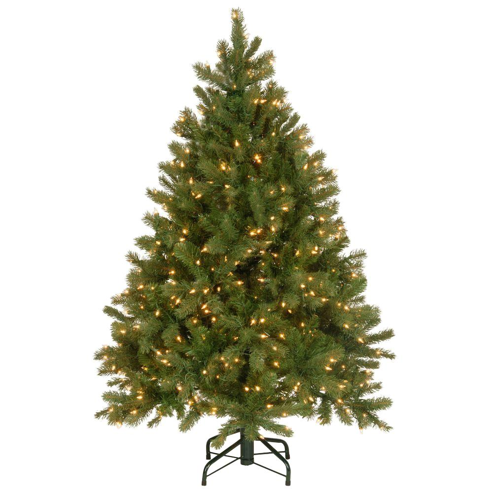 "National Tree 4.5 Foot ""Feel-Real"" Downswept Douglas Fir Tree with 450 Clear Lights"
