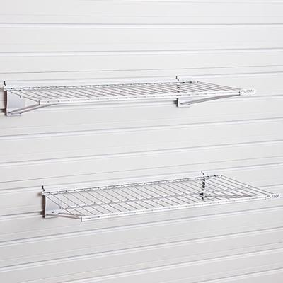 Metal Bracket Shelf - White (2-Pack)
