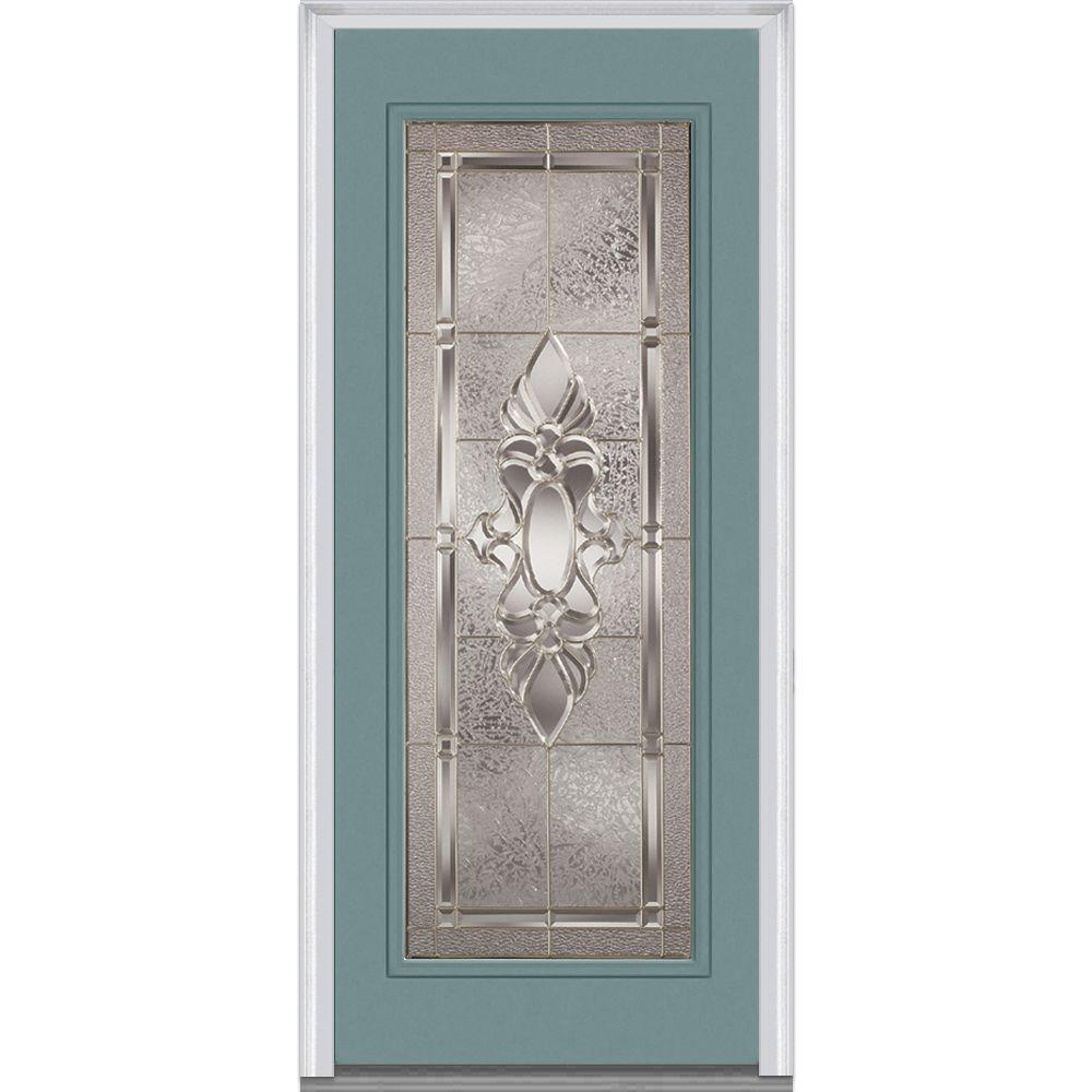 Mmi door 32 in x 80 in clear left hand 1 2 lite classic for Master bathroom glass doors