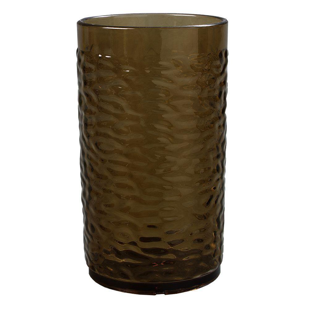 Carlisle 16.7 oz. SAN Plastic Pebble Optic Tumbler in Smoke (Case of 24)
