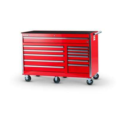 Tech Series 56 in. 12-Drawer Roller Cabinet Tool Chest in Red
