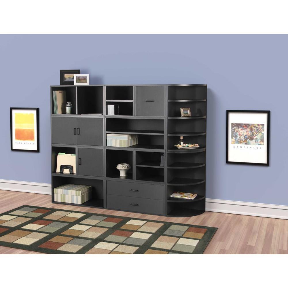 15 in. Black Shelf Cube