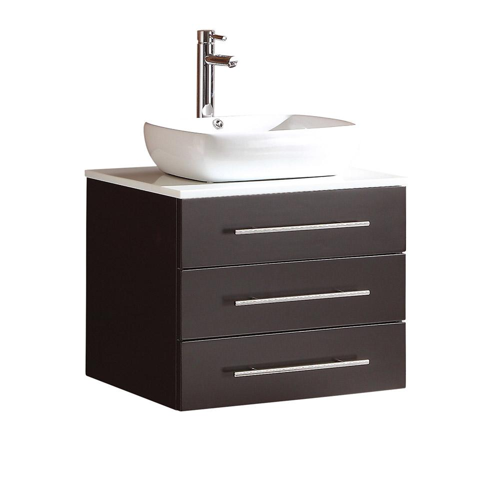Fresca modella 24 in bath vanity in espresso with marble for 24 white bathroom vanity with top