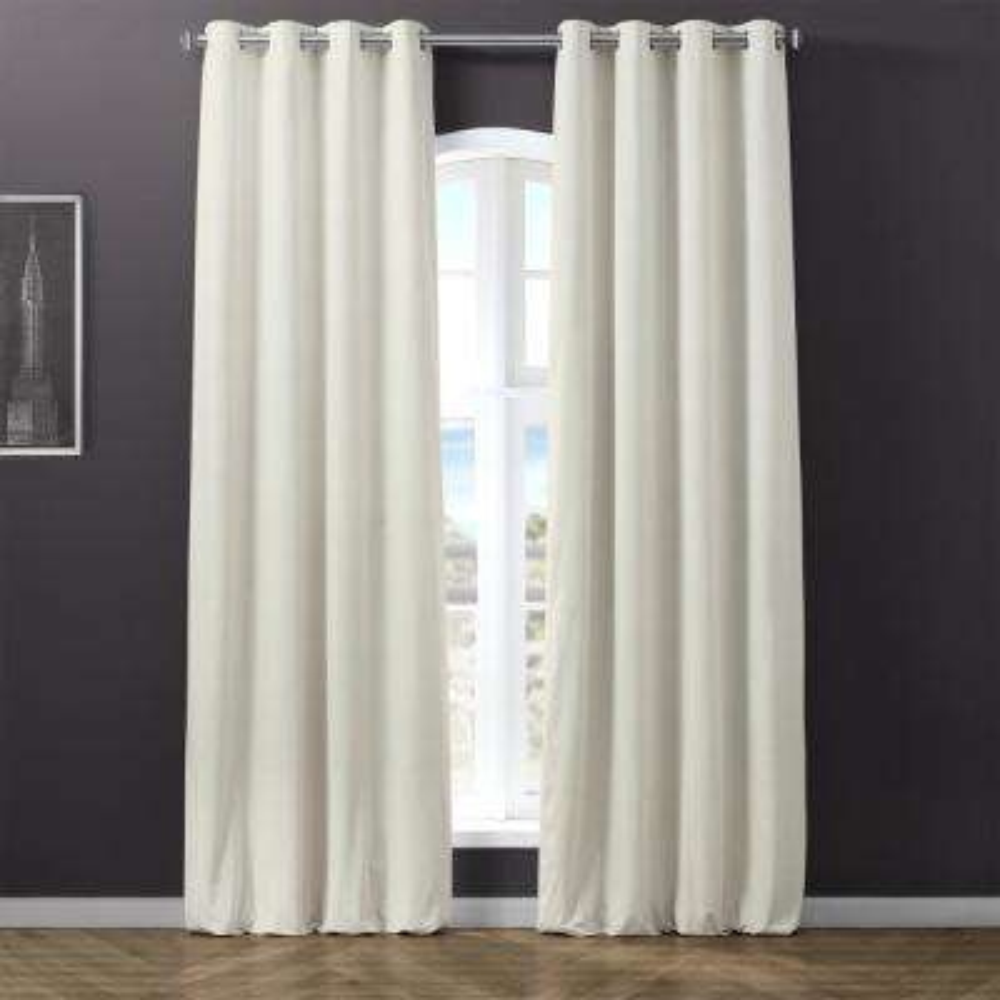 Blackout Signature Silver Grey Grommet Blackout Velvet Curtain - 50 in. W x 96 in. L (1 Panel)
