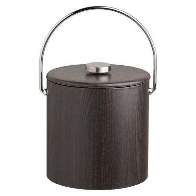 Woodcraft 3 Qt. Ebony Ice Bucket and Lid with Bale Handle