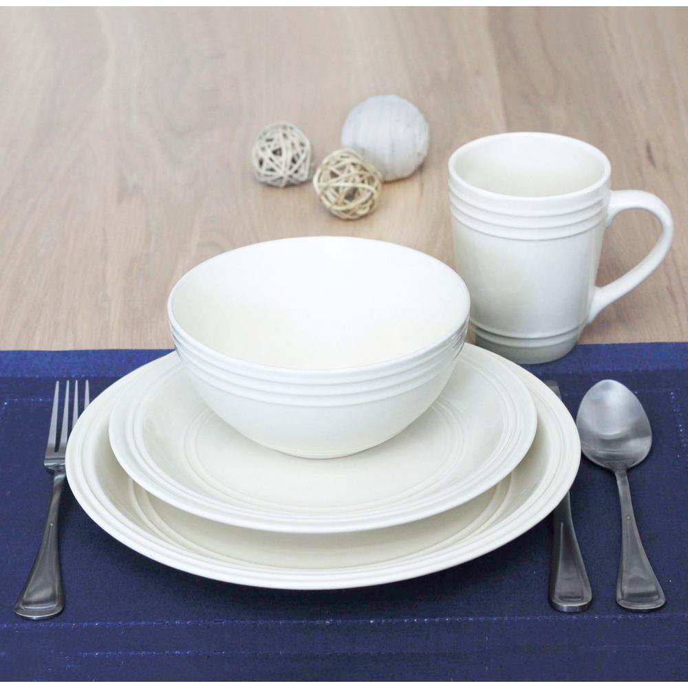 Allure 16-Piece Ivory Dinnerware Set