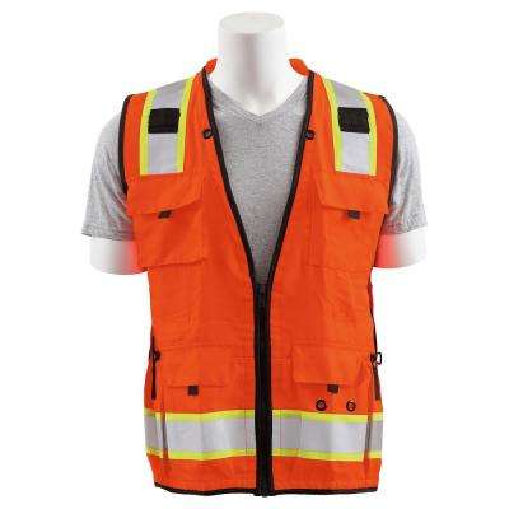 S252C Large HVO Mesh/Solid Polyester Surveyor Vest
