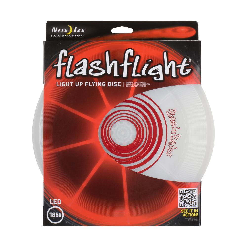 Flashflight LED Light-Up Flying Disc in Red