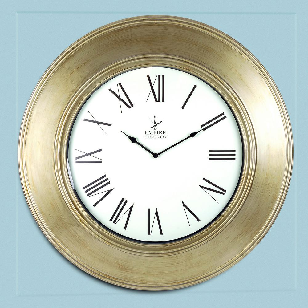 Empire brushed bronze oversize classic wall clock l914 the home null empire brushed bronze oversize classic wall clock amipublicfo Gallery