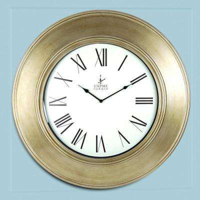 Empire Brushed Bronze Oversize Classic Wall Clock
