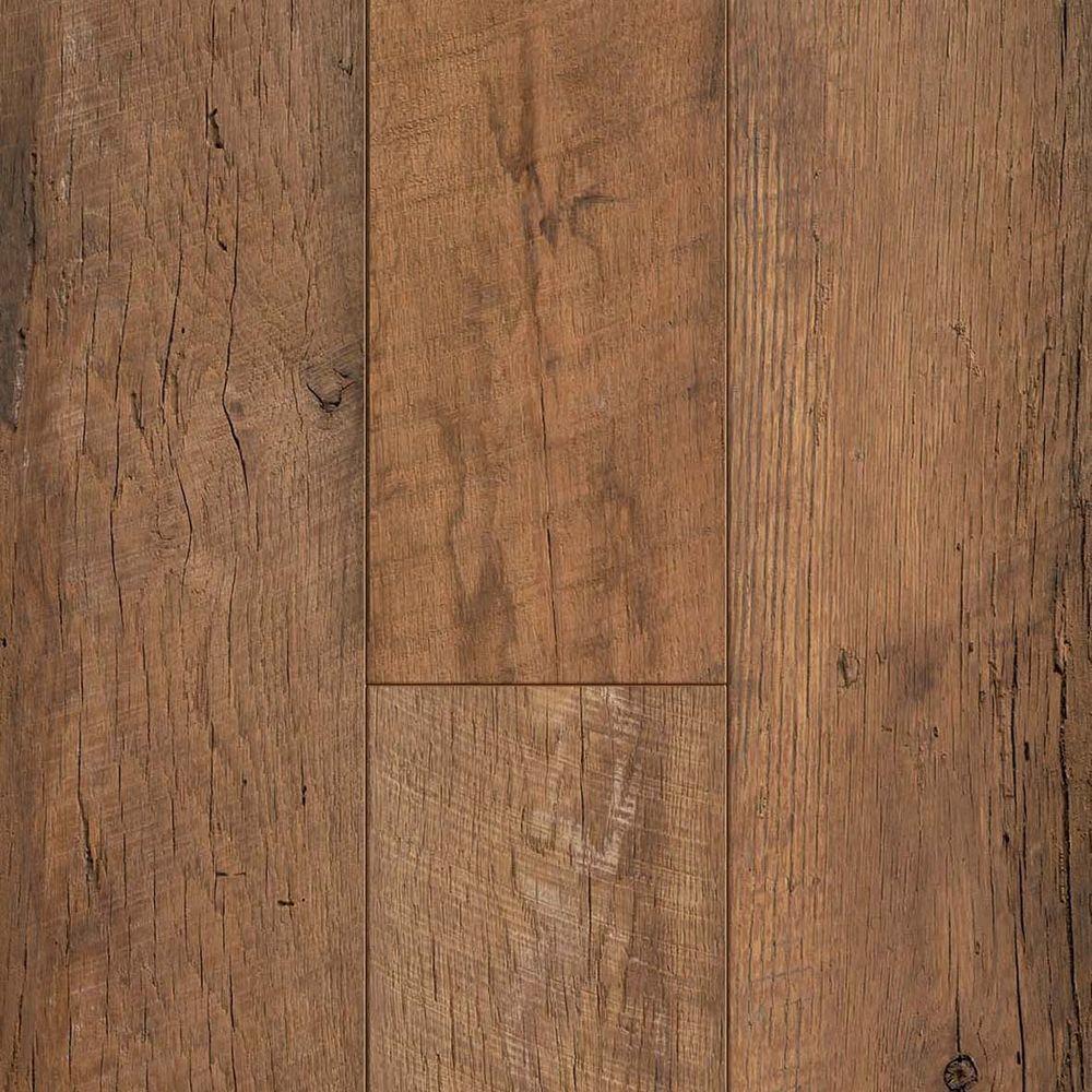 Waterproof laminate flooring tile effect