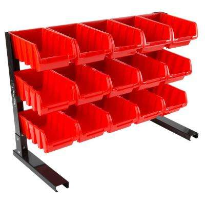 15-Compartment Small Parts Organizer Rack