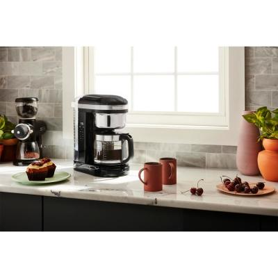 Kitchenaid 12 Cup Onxy Black Drip Coffee Maker With Spiral
