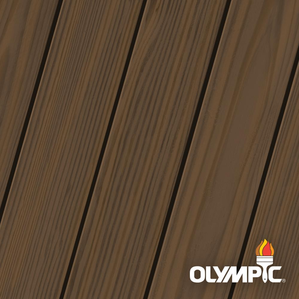 Olympic Maximum 5 gal. Olive Brown Semi-Transparent Exterior Stain and Sealant in One, Browns/Tans -  OLY936-05
