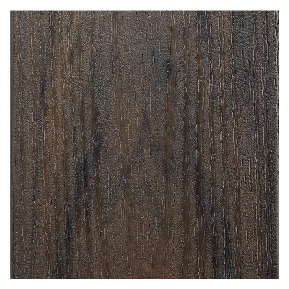 TimberTech 1 in. x 5.43 in. x 2 ft. PVC Decking Board Sample in Walnut Grove