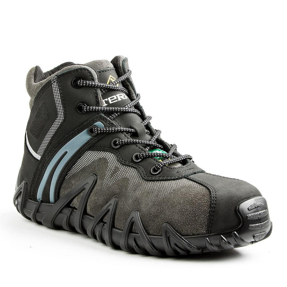3c1d5943ab Venom Mid Men's Size 12 Black Leather and Suede Composite Safety Toe Work  Shoe