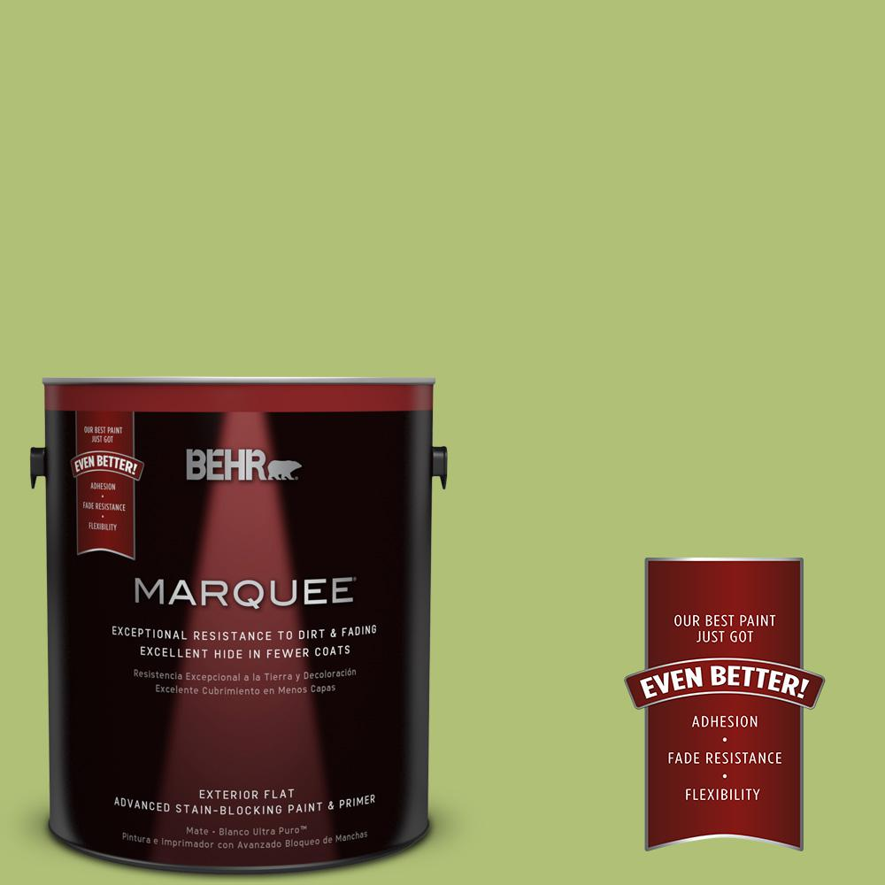 BEHR MARQUEE 1-gal. #HDC-SM14-5 Lavish Lime Flat Exterior Paint
