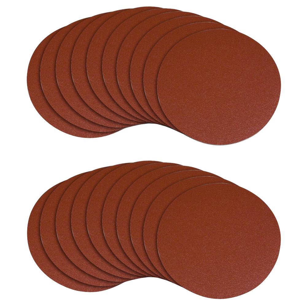 5 in. PSA 120 Grit Aluminum Oxide Sanding Disc/Self Stick (20-Pack)