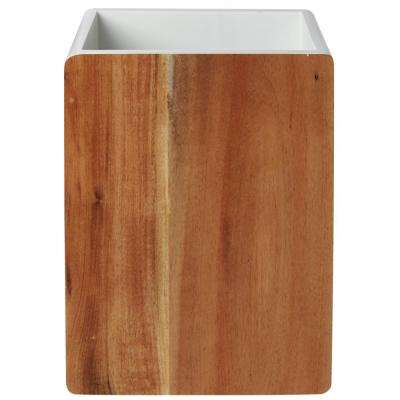 Hedland Waste Basket in Brown and White
