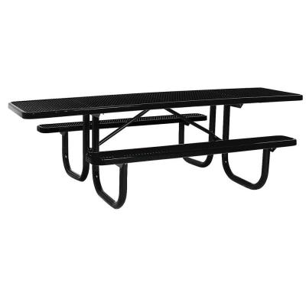 Portable 8 ft. Black Diamond Commercial ADA Rectangular Table
