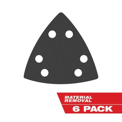 3-1/2 in. 80-Grit Sandpaper for Oscillating Multi-Tool (6-Pack)