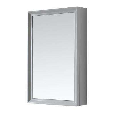 Parrish 24 in. W x 36 in. H Surface-Mount Medicine Cabinet in Dove Grey