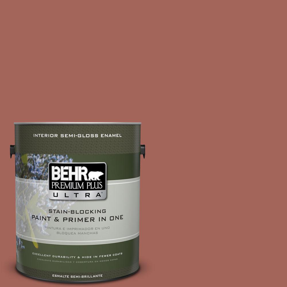 BEHR Premium Plus Ultra Home Decorators Collection 1-gal. #HDC-CL-08 Sun Baked Earth Semi-Gloss Enamel Interior Paint