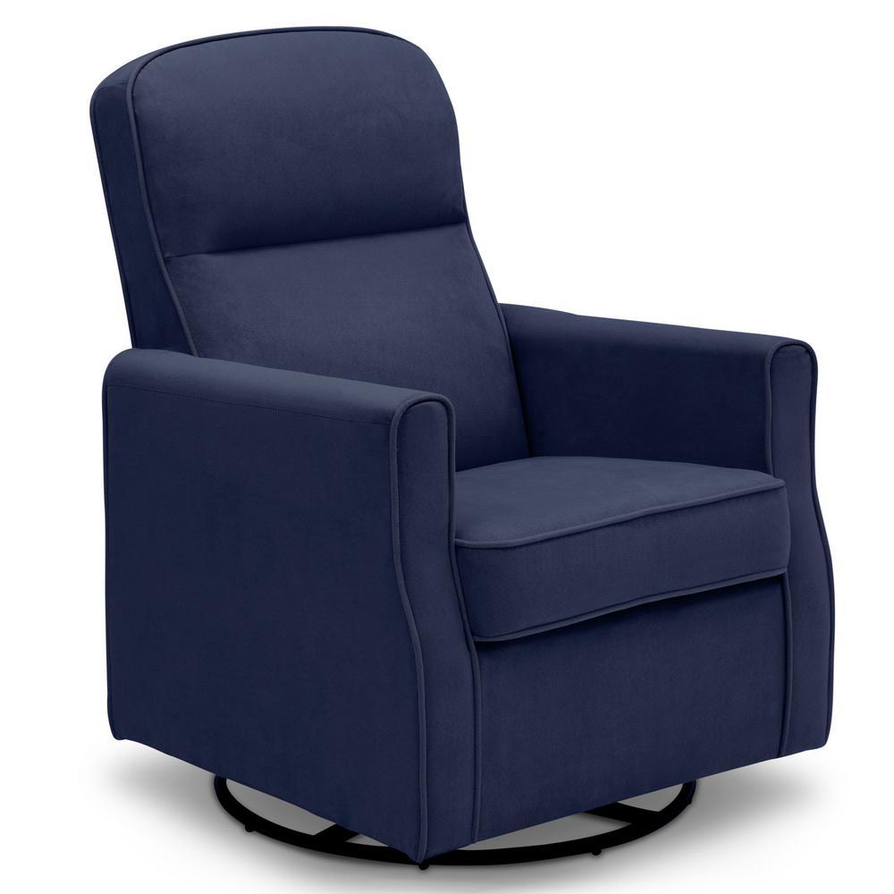 Delta Children Navy Clair Glider Swivel Rocker Chair