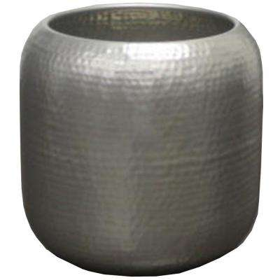 10.5 in. W x 10.5 in. H Hammered Metal Capsule Planter