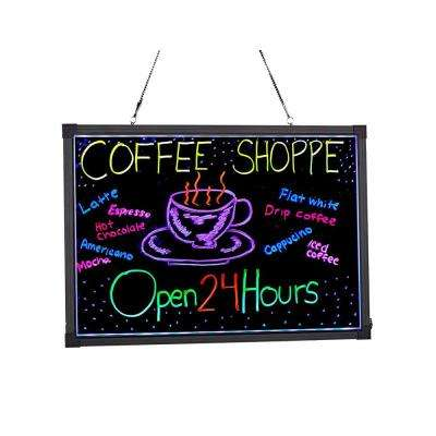 16 in. x 24 in. LED Illuminated Hanging Message Writing Board