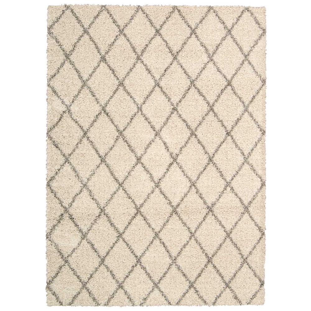 Nourison Brisbane Shag Cream 8 Ft X 10 Area Rug
